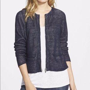 Eileen Fisher Zip Front Cardigan Jacket